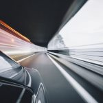 blurred background of a car driving fast