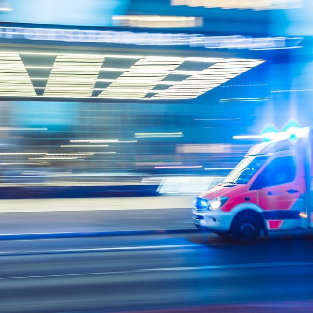 ambulance racing to a medical malpractice emergency